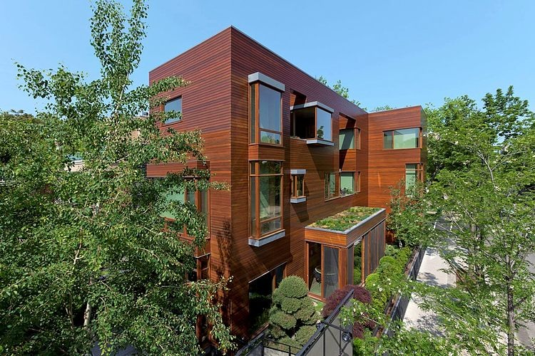3 storey wooden modern contemporary house (1)