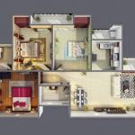 """แจกฟรี!! รวม 50 แบบแปลน """"บ้าน/อพาร์ทเมนต์ขนาด 3 ห้องนอน"""""""