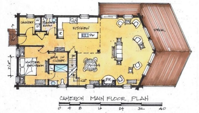5 for 5 bedroom log home floor plans
