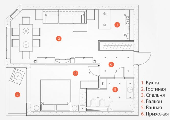 50 sqm one-bedroom apartment modern design (3)