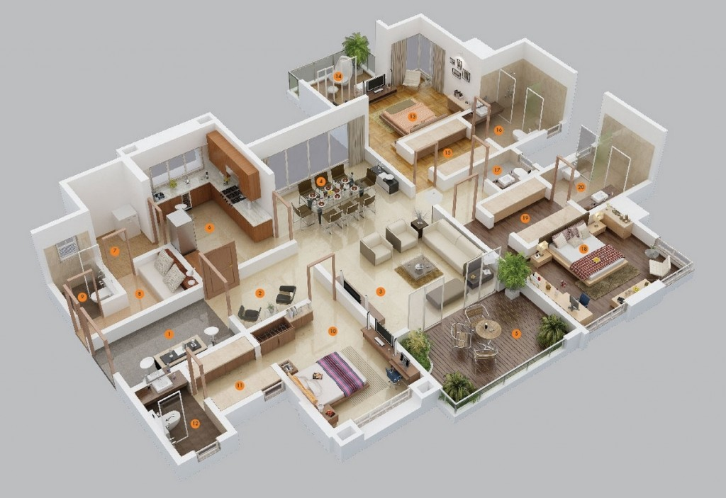 6-free-3-bedroom-house-plans