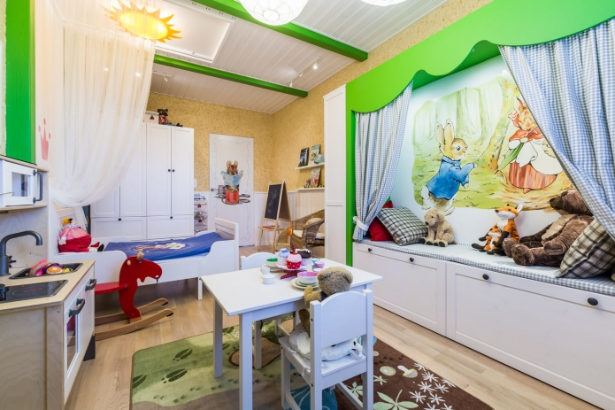 Interior design children's 15 m. meters (4)