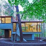 """บ้านร่วมสมัยกลางป่า ออกแบบด้วยแนวคิด """"Open Concept"""" ผสมผสานบรรยากาศภายนอกและภายใน"""