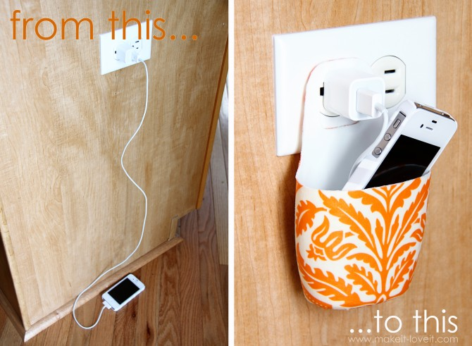 diy holder for cell phone from lotion bottle (2)