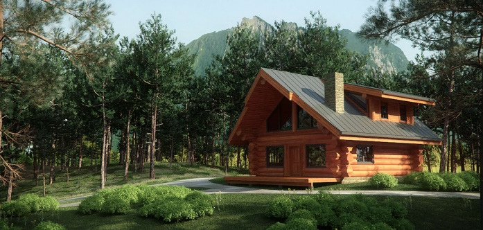 7 small log cabin house plans (12)