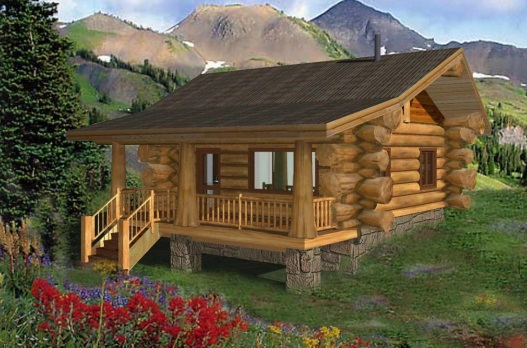 7 small log cabin house plans (2)