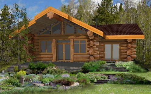 7 small log cabin house plans (8)