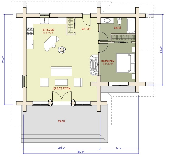 7 small log cabin house plans (9)