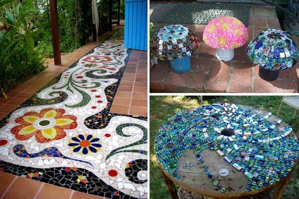 Mosaic Garden decoration ideas (1)