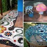 'Mosaic Garden' ไอเดียแต่งสวนสวยด้วยกระจกสี