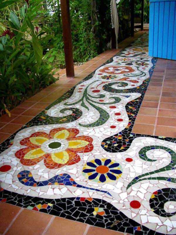 Mosaic Garden decoration ideas (12)