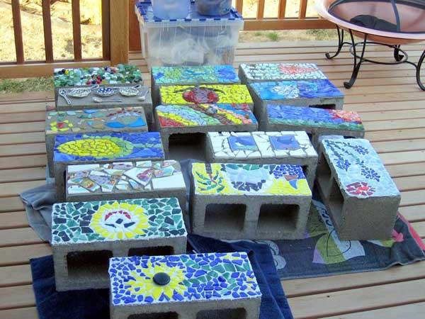 Mosaic Garden decoration ideas (18)