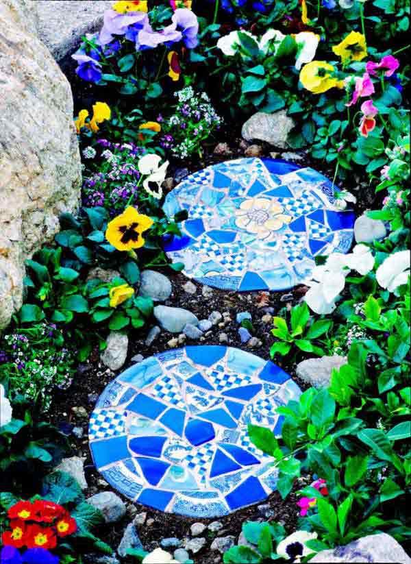 Mosaic Garden decoration ideas (4)