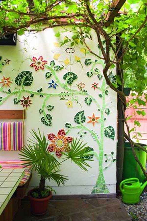 Mosaic Garden decoration ideas (8)