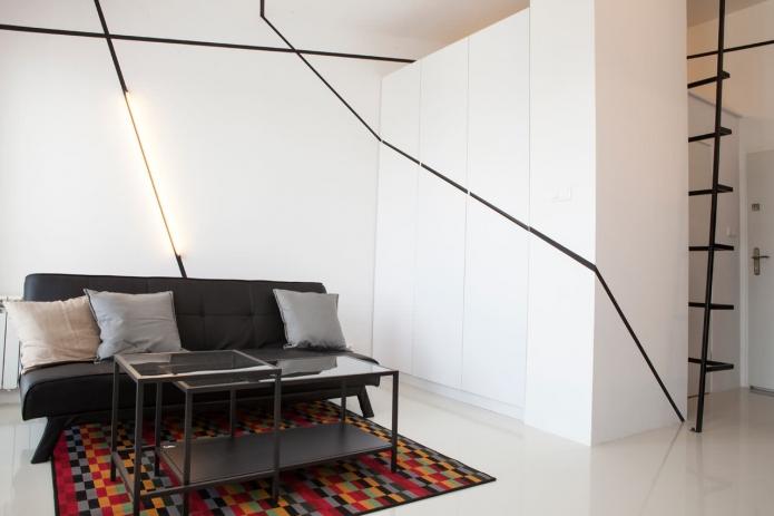 modern monotone 26 sq mts apartment  (1)