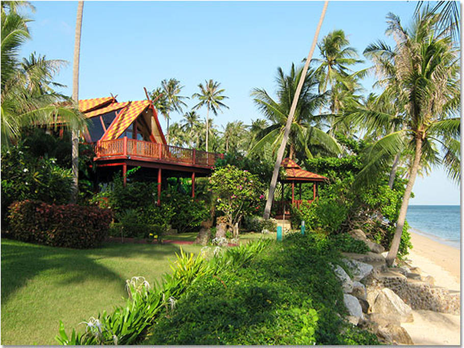 teak villa house in surathani (2)