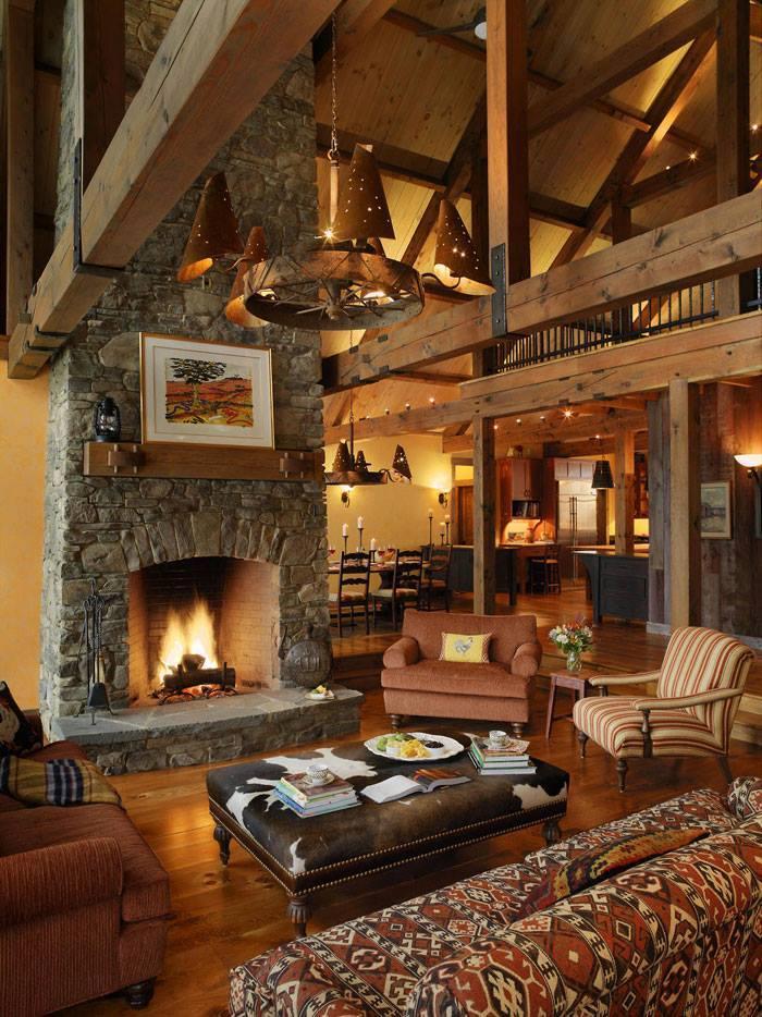 10 rustic living room interior design ideas (4)