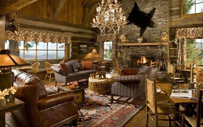 10 rustic living room interior design ideas (6)