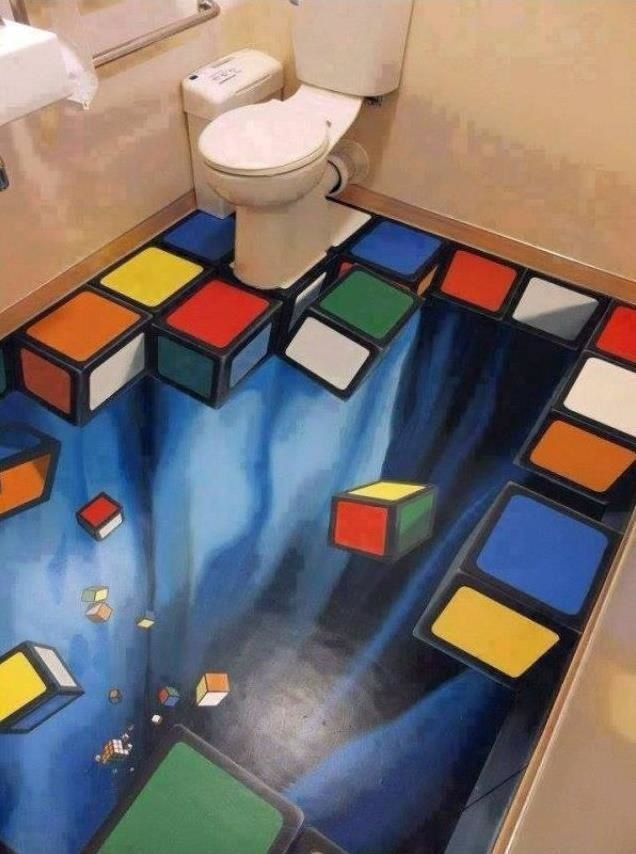 3D Floor Designs That Will Give You Bathroom Envy (10)