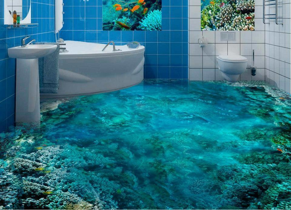 3D Floor Designs That Will Give You Bathroom Envy (15)