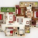 แจกฟรีอีกแล้ว!! 50 แบบแปลน คอนโด/อพาร์ทเมนต์ ขนาด 4 ห้องนอน