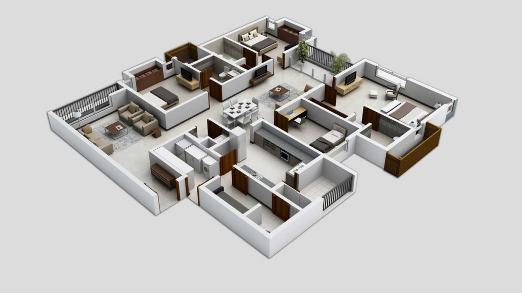 50-four-4-bedroom-apartmenthouse-plans (12)