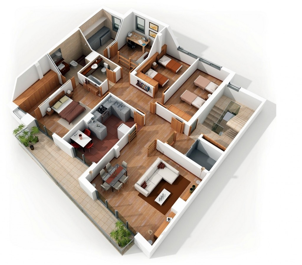 50-four-4-bedroom-apartmenthouse-plans (13)