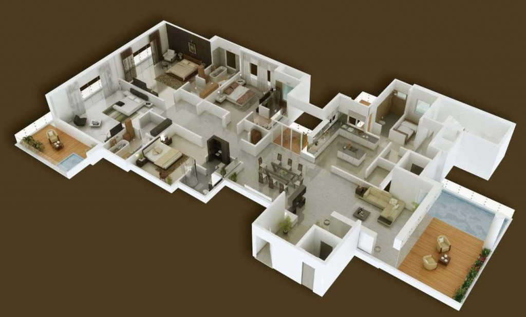 50-four-4-bedroom-apartmenthouse-plans (14)