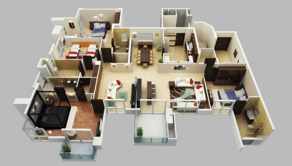 50-four-4-bedroom-apartmenthouse-plans (16)