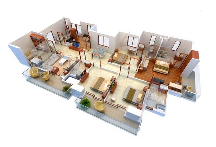 50-four-4-bedroom-apartmenthouse-plans (18)