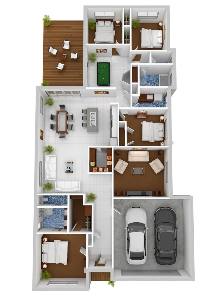 50-four-4-bedroom-apartmenthouse-plans (20)
