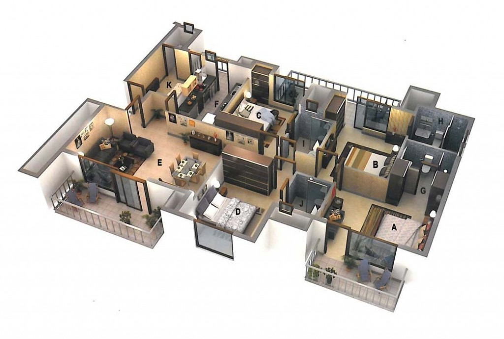 50-four-4-bedroom-apartmenthouse-plans (25)
