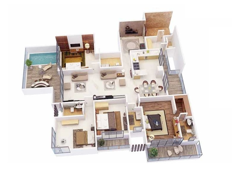 50-four-4-bedroom-apartmenthouse-plans (26)