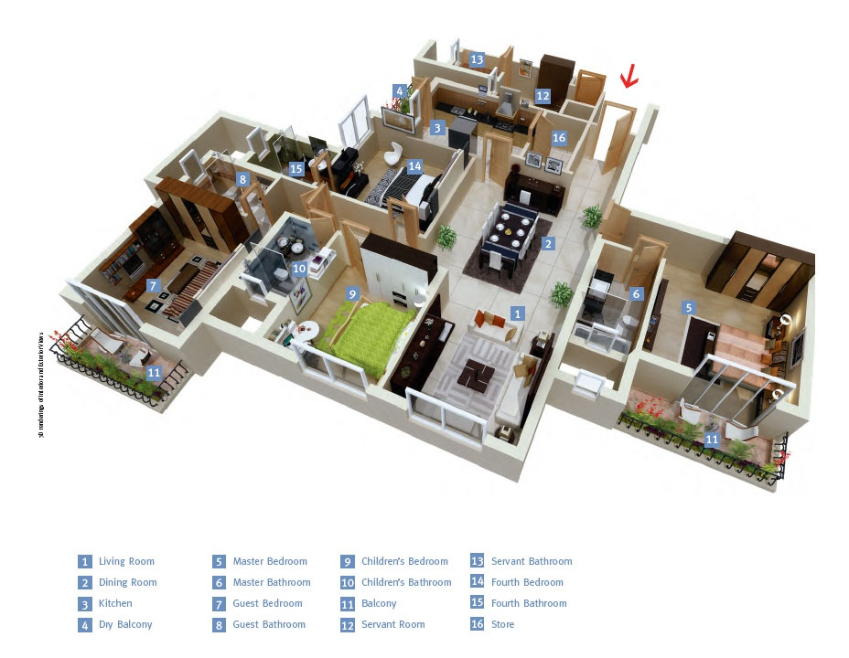 50-four-4-bedroom-apartmenthouse-plans (29)