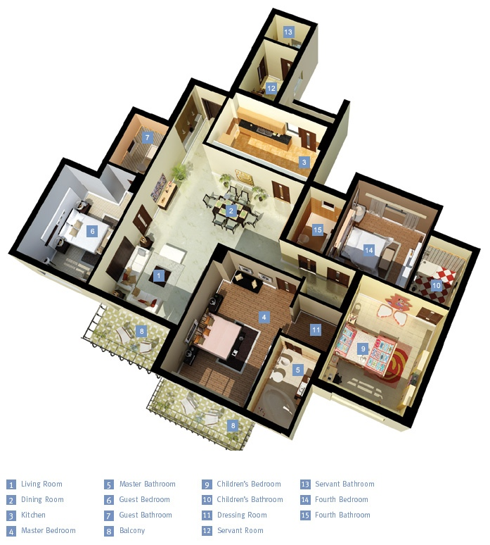 50-four-4-bedroom-apartmenthouse-plans (30)