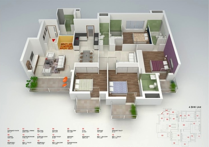 50-four-4-bedroom-apartmenthouse-plans (31)