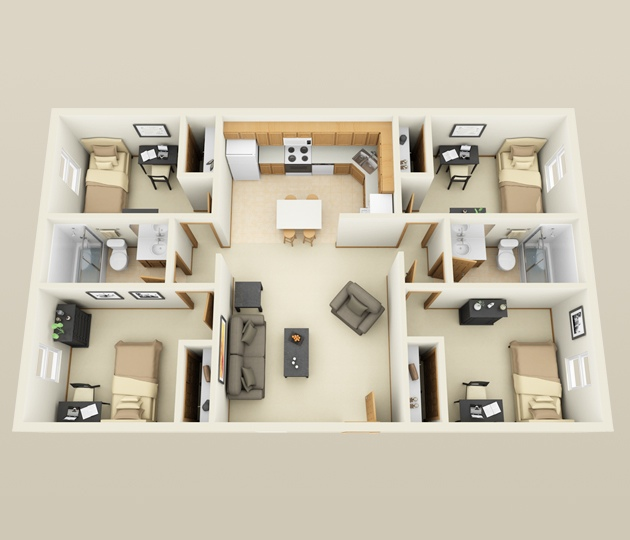 50-four-4-bedroom-apartmenthouse-plans (33)