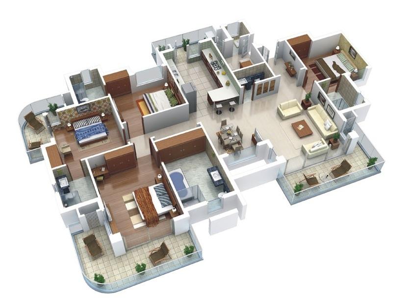 50-four-4-bedroom-apartmenthouse-plans (34)