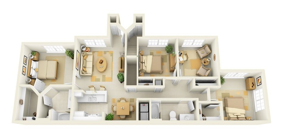 50-four-4-bedroom-apartmenthouse-plans (37)