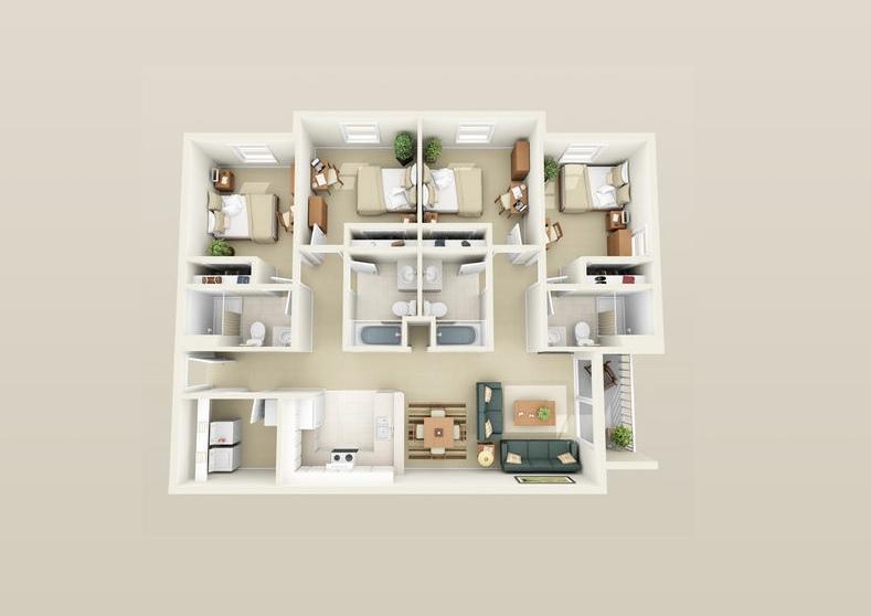 50-four-4-bedroom-apartmenthouse-plans (38)