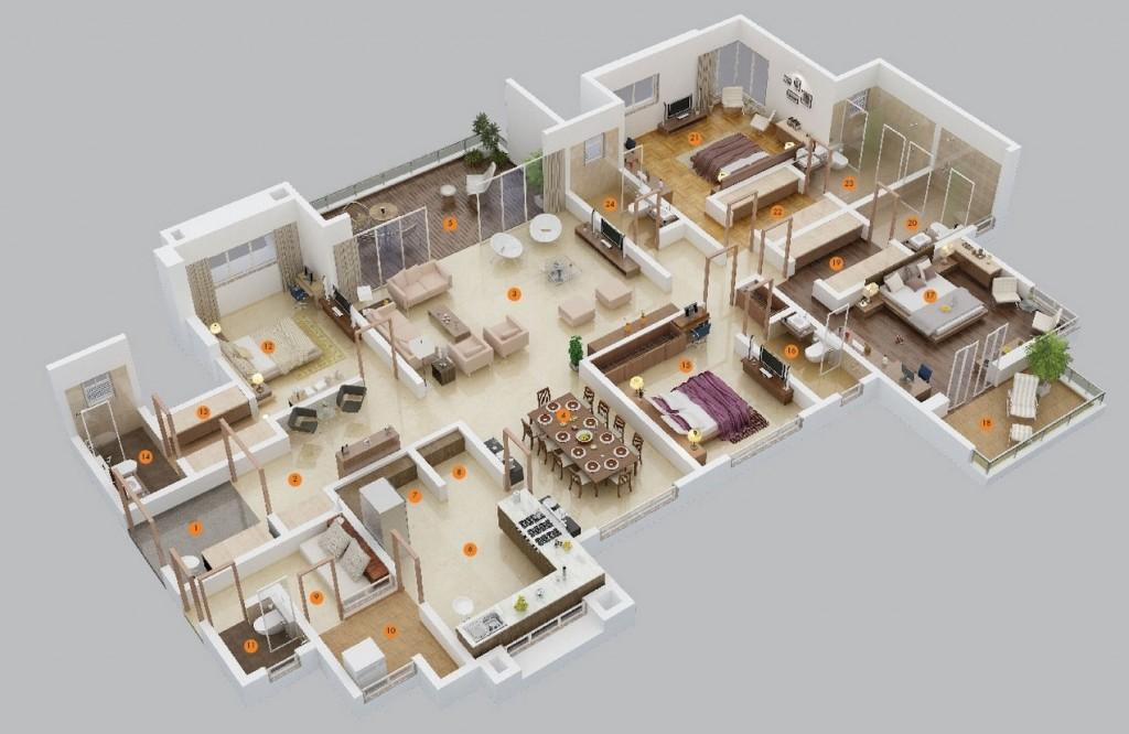 50-four-4-bedroom-apartmenthouse-plans (4)