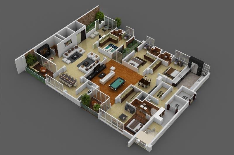 50-four-4-bedroom-apartmenthouse-plans (40)