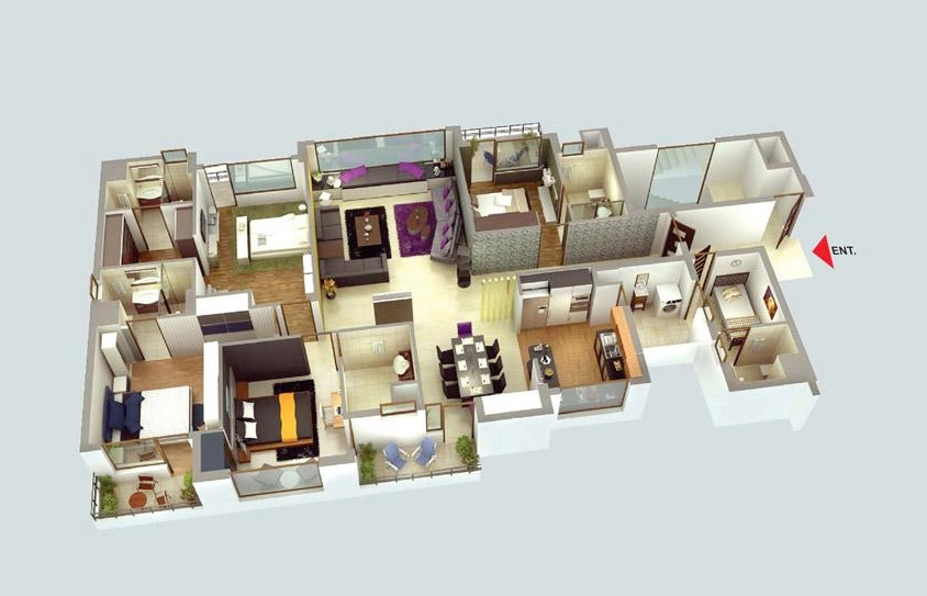 50-four-4-bedroom-apartmenthouse-plans (41)