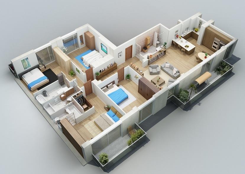 50-four-4-bedroom-apartmenthouse-plans (43)