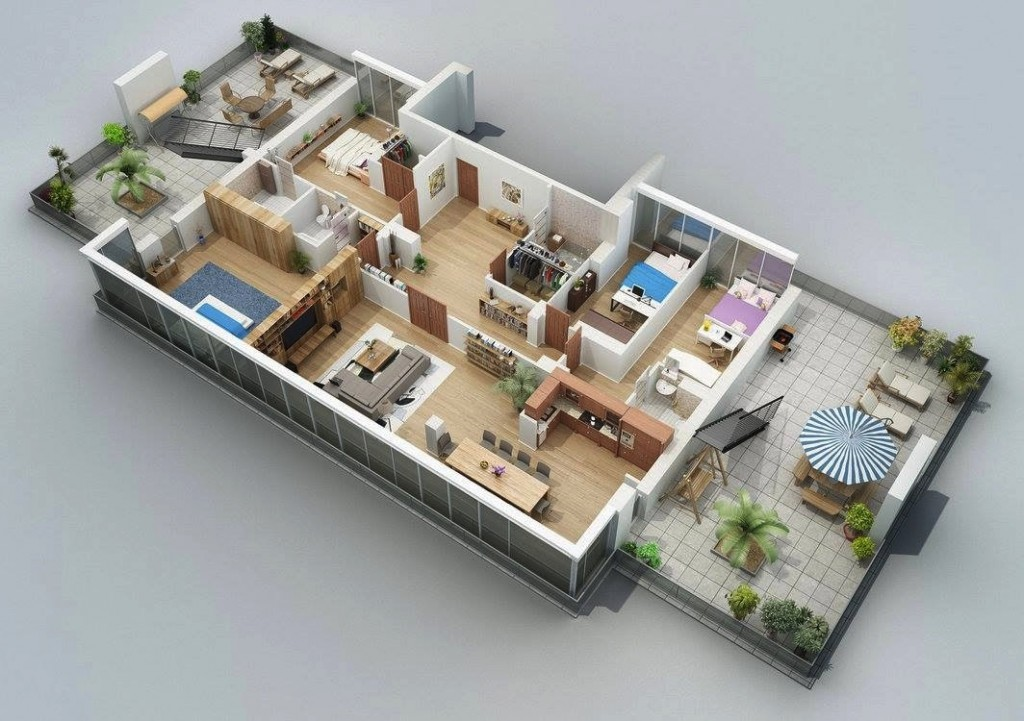 50-four-4-bedroom-apartmenthouse-plans (44)