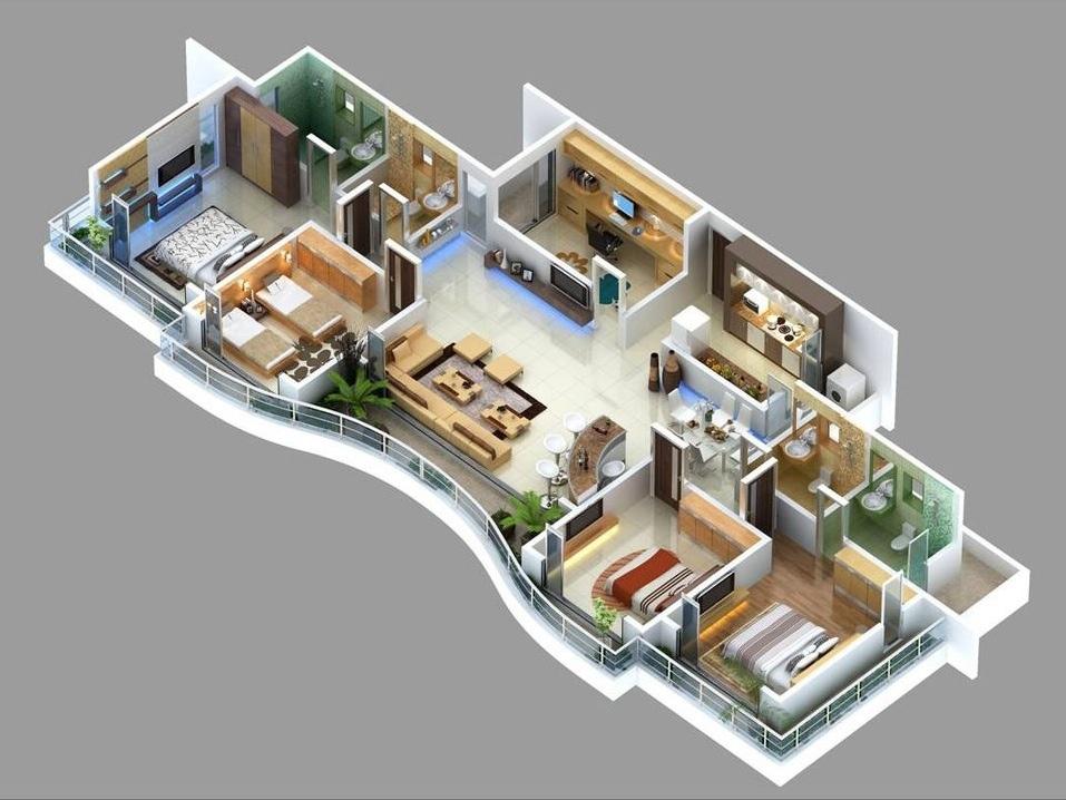 50-four-4-bedroom-apartmenthouse-plans (45)