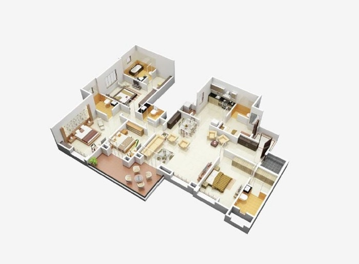 50-four-4-bedroom-apartmenthouse-plans (46)