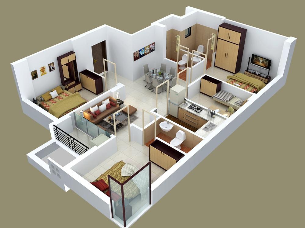 50-four-4-bedroom-apartmenthouse-plans (47)
