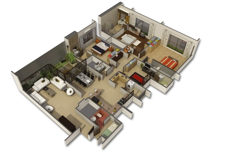 50-four-4-bedroom-apartmenthouse-plans (48)