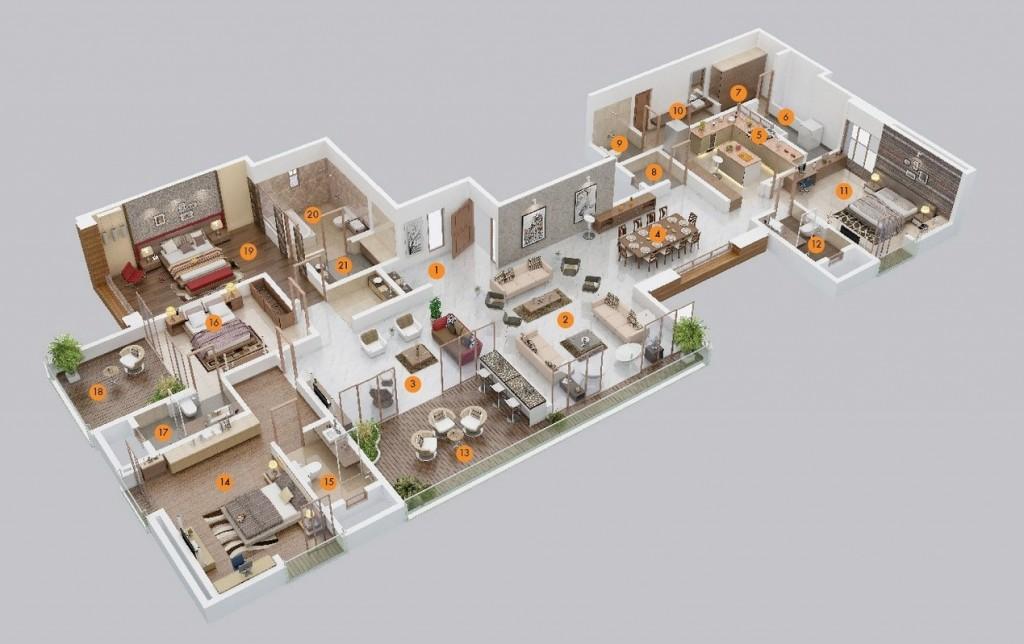 50-four-4-bedroom-apartmenthouse-plans (5)